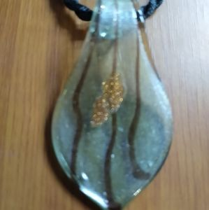 Jewelry - Hand blown glass pendant